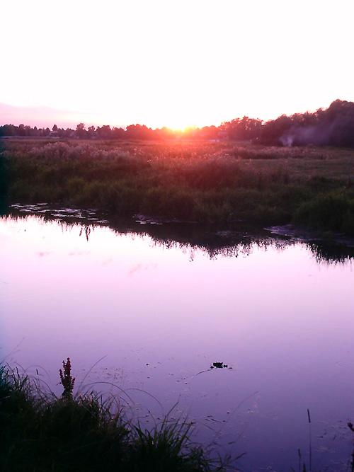 Все для рыбалки - Водоемы Беларуси - Закат на реке Волма
